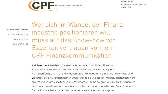 MESO - CPF Finanzkommunikation