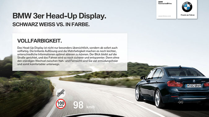 meso bmw 3 series head up display ipad application. Black Bedroom Furniture Sets. Home Design Ideas